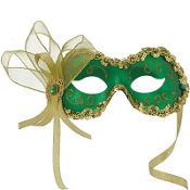 Green Angelina Masquerade Mask