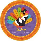 Fun Turkey Lunch Plates 8ct