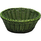 Green Round Serving Basket 8 1/4in x 3 1/4in