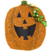 Pumpkin Tinsel Decoration 18 1/2in
