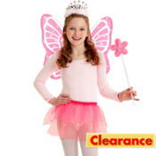 Child Pink Sparkle Fairy Costume Kit