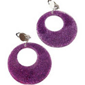 Magenta Glitter Earrings