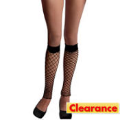 Adult Black Fence Net Leg Warmers