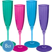 Jewel Tone New Years Champagne Flutes 5oz 8ct