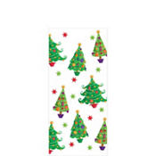 Contemporary Tree Small Party Bags 9 1/2in x 4in 20ct