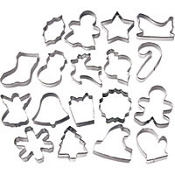 Metal Holiday Cookie Cutter Set 18pc