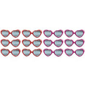 Heart Glitter Valentine Sunglasses 12ct