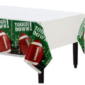 The Big Game Football Plastic Table Covers 54in x 84in 3ct