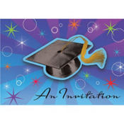 Star Grad Graduation Invitations 50ct
