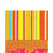Hot Stripe Orange Lunch Napkins 20ct