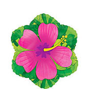 Foil Pink Hibiscus Balloon 18in