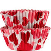 Valentine's Day Hearts Cupcake Baking Cups 50ct
