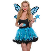 Blue Sparkle Fairy Costume Kit