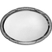 Silver Metal Oval Platter 13in x 18in