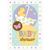 Tiny Bundle Baby Shower Invitations 8ct