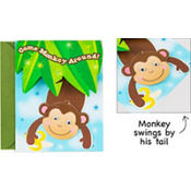 Monkey Business Large Invitations 8ct