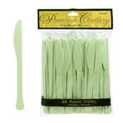 Leaf Green Premium Plastic Knives 48ct