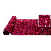 Cerise Metallic Floral Sheeting 15ft