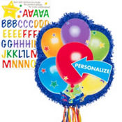 Pull String Personalized Balloons Pinata 18in