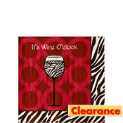 Wine O' Clock Beverage Napkins 20ct