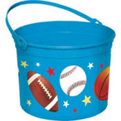 Plastic Sports Easter Bucket