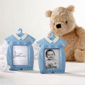 Thanks for Hanging Out Blue Photo Place Card Holder Baby Shower Favor