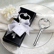 Key to My Heart Victorian Style Bottle Opener Wedding Favor