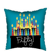 Great 50th Birthday Square Foil Balloon 18in
