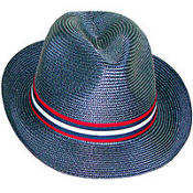Blue Patriotic Fedora Hat