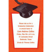 Orange Congrats Grad Custom Graduation Invitation