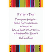 Fiesta Stripe Custom Invitation