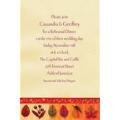 Watercolor Leaves Custom Invitation