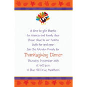 Fun Turkey Custom Invitation