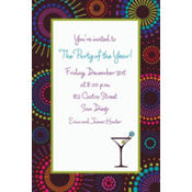 Countdown Cocktails Custom Invitation