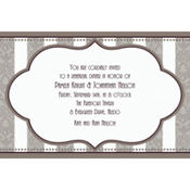 Bride and Groom Custom Wedding Invitation