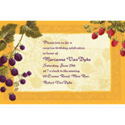 Botanical Berries Custom Invitation