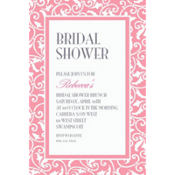 Pink Ornamental Scroll Custom Invitation