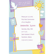 Custom Celebration Communion Invitation