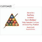 Billiards Custom Invitation