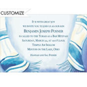 Blue Tallis Custom Invitation
