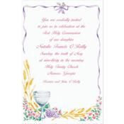Communion with Flowers Custom Invitation