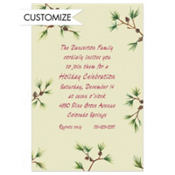 Pine Sprigs Custom Invitation