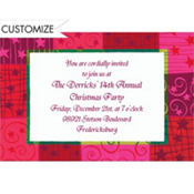 Christmas Patchwork Custom Invitation