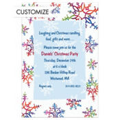 Festive Snowflakes Custom Invitation