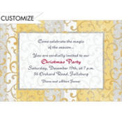 Gold Scroll on Stripe Custom Invitation