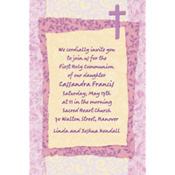 Pink Cross Collage Custom Invitation