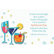 Retro Mixed Drinks Custom Invitation