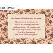 Classic Toile Custom Invitation