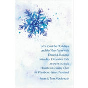 Elegant Snowflake Custom Invitation