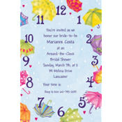 Around-the-Clock Shower Custom Invitation